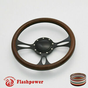 14 Billet Steering Wheels Walnut Full Wrap Buick Cadillac Pontiac Gto Firebird
