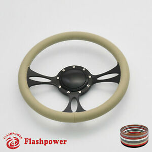14 Billet Steering Wheels Tan Full Wrap Buick Cadillac Pontiac Gto Firebird