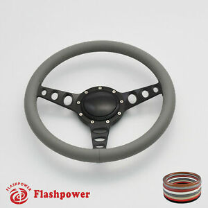14 Billet Steering Wheel Gray Full Wrap Chevrolet Monte Carlo Camaro W Horn
