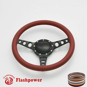 14 Billet Steering Wheel Burgundy Full Wrap Chevrolet Monte Carlo Camaro
