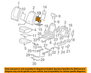 Gm Oem Front Seat lumbar Support Left 10376391