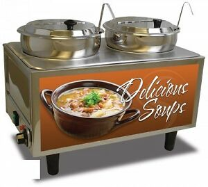 Bmrk 51072s benchmark Usa 51072s Soup Station Warmer Twin 7 Quart Well Capacity