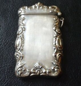 28 98 Gram Sterling Silver Repousse Match Safe Case 925