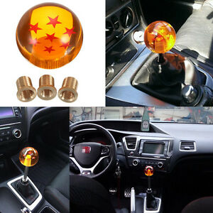 Dragon Ball Z 7 Star 54mm Shift Knob Gear Shifter Grip With Adapters Universal