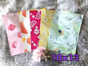 200 Designer Printed Poly Mailers 10x13 Shipping Envelopes Bags Mix Peacock