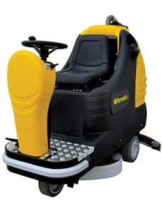 Tornado Bd 26 27 Ride on Automatic Floor Scrubber W Agm Batteries
