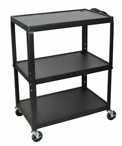 Luxor Extra Wide Steel Adjustable Height A v Cart