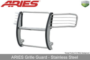Aries Polished Stainless Steel Grille Brush Guard 2011 2014 Gmc Sierra 2500 3500