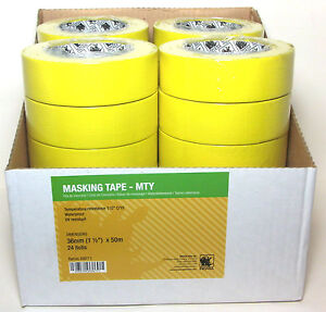 Indasa 556771 1 1 2 Yellow Masking Tape Case Of 24 Rolls Automotive Marine