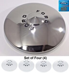 1949 1950 Ford Car Stainless Ford Hubcaps Set Of 4 Shoe Box Deluxe