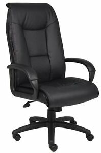 Nors b7601 boss Office Products B7601 Executive Leatherplus Chair With Padded A