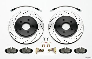 2005 2013 Ford Mustang Wilwood Oe Rear Brake Rotors With Pads And Brake Lines