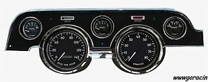 New Vintage Usa 1940 Series black Gauges fits 1967 1968 Ford Mustang tach speedo
