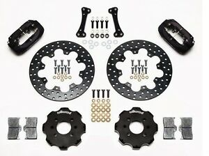Wilwood Dynalite Front Drag Brake Kit Fits Honda Civic acura Integra drilled