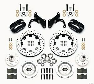 Chevy Corvette impala wilwood Forged Dynalite Front Big Brake Kit drilled Rotors