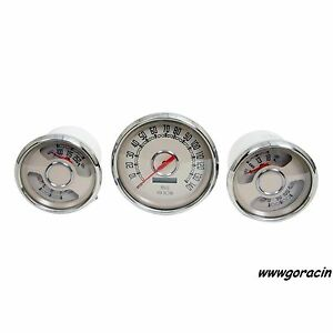 New Vintage Usa Woodward Series analog Gauge Set hot Rod musclecar street Rod