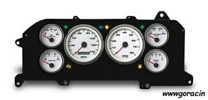 New Vintage Usa Performance Speedo White Gauge Set Fits 87 93 Mustang gt lx 5 0
