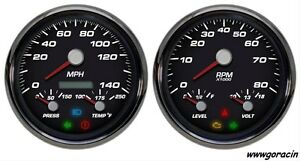 New Vintage Usa Performance Series Gauge Set Hot Rod muscle Car street Rod