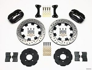 Honda Civic crx del Sol Dynalite Front Big Brake Kit Wilwood 12 Drilled Rotors