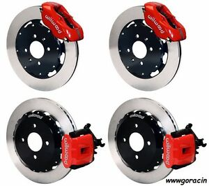 Wilwood Disc Brake Kit 1990 95 Honda Civic 12 Rotors red 4 Piston Front Calipes