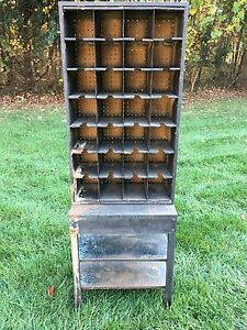 Antique Post Office Mail Box W 28 Covey Holes
