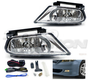 Oe Style Fog Lights Pair Clear Lens Lamps Switch Harness For 05 07 Honda Odyssey