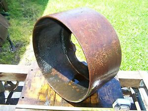 Old Hercules Economy Cast Iron Belt Pulley Hit Miss Gas Engine Magneto Steam Wow