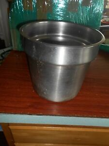 Voolrath Commercial Drop In Stainless Steel Pan Pot 71 2qt X3 Used