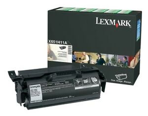 Lexmark Toner cart x651 52 hy bk Lexx651h11a Printer Laser Imaging Supplies New