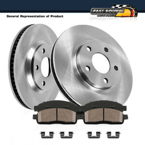 Front Brake Rotors Ceramic Pads For Honda Accord V6 2003 2004 2005 2006 2007