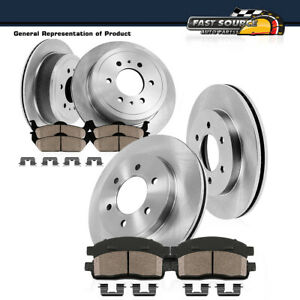 Front And Rear Brake Rotors Ceramic Pads Fits Nissan Frontier Xterra Equator