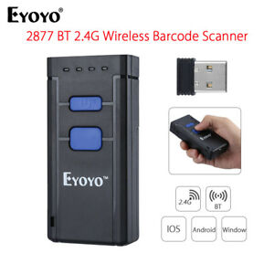 Eyoyo Mj2877 Laser Wireless Bluetooth 4 0 1d Barcode Code Scanner For Iphone