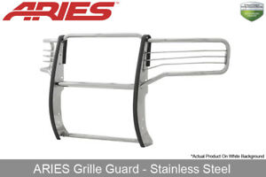 Aries Polished Stainless Steel Grille Brush Guard 2015 2017 Gmc Sierra 2500 3500