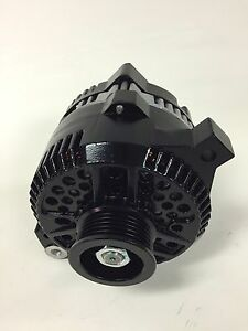 1986 1995 New Ford Mustang High Amp Load Boss Black Painted Alternator 200 Amps