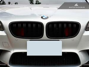 New Replacement Dual Slats Matte Black Front Grille For 11 15 Bmw 5 series F10