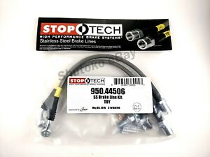Stoptech Ss Stainless Steel Rear Brake Lines For 93 98 Toyota Supra