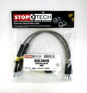 Stoptech Stainless Steel Ss Braided Front Brake Lines For 91 92 93 Bmw M5 E34