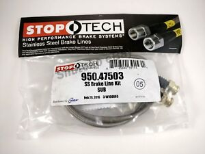 Stoptech Ss Stainless Steel Rear Brake Lines For 93 01 Subaru Impreza