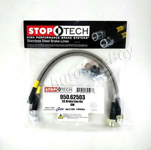 Stoptech Stainless Steel Rear Brake Lines For 05 11 14 15 Chevrolet Corvette
