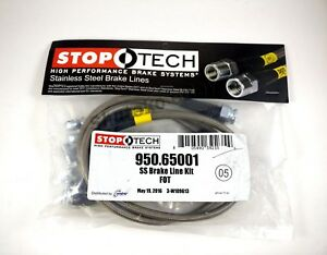 Stoptech Stainless Steel Braided Front Brake Lines For 98 03 Ford F 150 4wd Only