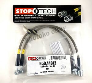 Stoptech Stainless Steel Front Brake Lines For 07 14 Toyota Yaris