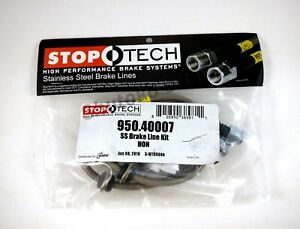 Stoptech Stainless Steel Front Brake Lines For 99 00 Honda Civic Si Coupe