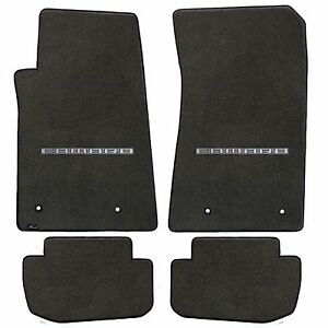 Camaro 2010 4pc Car Floor Mats Carpet Black Ebony Velourtex Camaro Logo