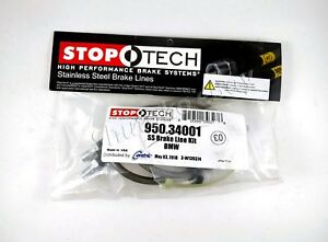 Stoptech Ss Braided Front Brake Lines For Bmw 3 Series 96 99 328i 328is E36
