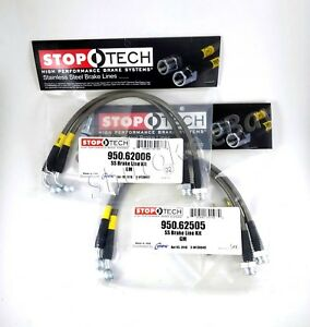 Stoptech Stainless Steel Front Rear Brake Lines For 06 09 Pontiac Solstice