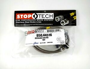 Stoptech Stainless Steel Ss Braided Rear Brake Lines For 92 01 Toyota Camry