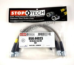 Stoptech Ss Stainless Steel Front Brake Lines For 07 15 Toyota Tundra