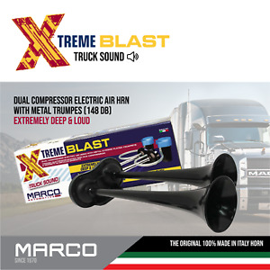 Super Loud 148db Marco Extreme Blast Black Train Premium Air Horn Car Truck Suv