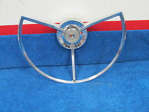 1959 Ford Fairlane 500 Full Size Car Power Steering Wheel Horn Ring 517