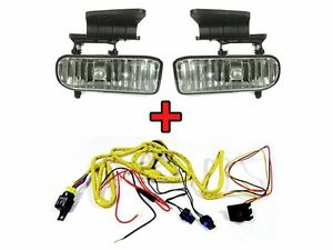 1999 2002 Chevy Silverado Replacement Fog Light Set Wiring Kit Left Right